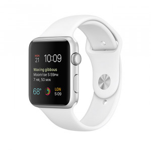 Apple Watch Series 1 42mm Silver Case with White Sport Band