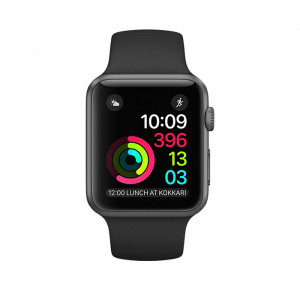 Apple Watch Series 2 42mm Gray Case with Black Sport Band