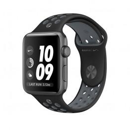 ساعت هوشمند اپل واچ نایک پلاس سری 2 سایز 38 میلیمتر رنگ خاکستری با بند مشکی