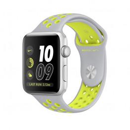 ساعت هوشمند اپل واچ نایک پلاس سری 2 سایز 38 میلیمتر رنگ نقرهای با بند نقرهای