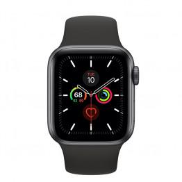 ساعت هوشمند سری 5 سایز 40 خاکستری اپل با بند مشکی