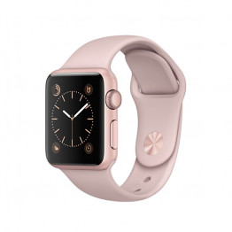 ساعت هوشمند اساعت هوشمند سری 1 سایز 42 میلیمتر رنگ رزگلد اپل با بند صورتیپل واچ سری 1 سایز 42 میلیمتر رنگ رزگلد با بند صورتی