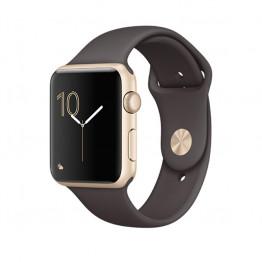 ساعت هوشمند اپل واچ سری 1 سایز 42 میلیمتر طلائی با بند قهوهای