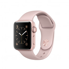 ساعت هوشمند سری 2 سایز 38 میلیمتر رزگلد اپل با بند صورتی