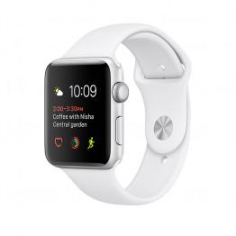 ساعت هوشمند سری 2 سایز 42 میلیمتر نقرهای اپل با بند اسپرت سفید