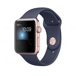 ساعت هوشمند سری 2 سایز 38 میلیمتر رزگلد اپل با بند سرمهای