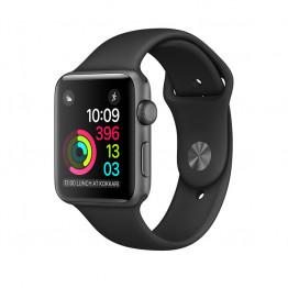 ساعت هوشمند اپل واچ سری 2 سایز 42 میلیمتر رنگ خاکستری با بند اسپرت مشکی