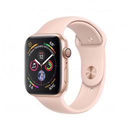 ساعت هوشمند سری 4 سایز 44 میلیمتر طلائی اپل با بند صورتی