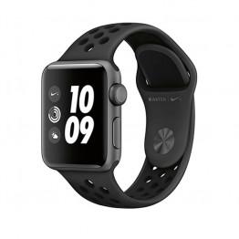 ساعت هوشمند نایک پلاس سری 3 سایز 38 میلیمتر خاکستری اپل با بند مشکی