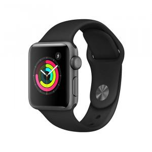 ساعت هوشمند اپل واچ سری 3 سایز 38 میلی متر رنگ طوسی با بند مشکی