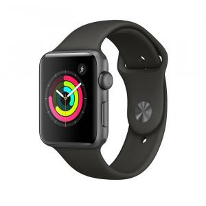 ساعت هوشمند اپل واچ سری 3 سایز 42 میلیمتر رنگ طوسی با بند مشکی