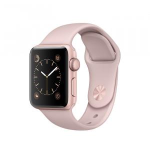 ساعت هوشمند اپل واچ سری 2 سایز 38 میلیمتر رنگ رزگلد با بند صورتی