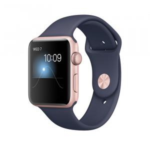 ساعت هوشمند اپل واچ سری 2 سایز 38 میلیمتر رنگ رزگلد با بند سرمهای