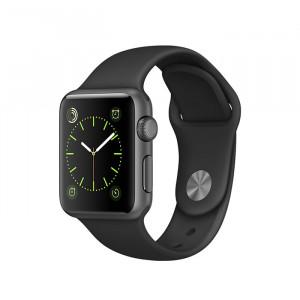 ساعت هوشمند اپلشساعت هوشمند اپل واچ سری 1 سایز 38 میلیمتر رنگ خاکستری با بند مشکی