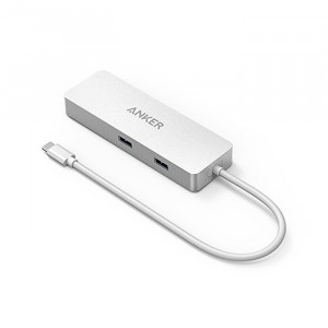 Anker Premium USB-C Hub with Ethernet and Power Delivery Silver