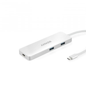 Anker Premium USB-C Hub with HDMI and Power Delivery Silver