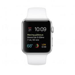 ساعت هوشمند سری 1 سایز 42 میلیمتر نقرهای اپل با بند اسپرت سفید