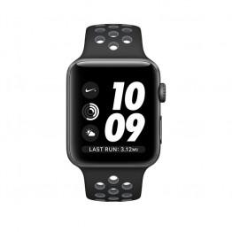 ساعت هوشمند اپل واچ نایک پلاس سری 2 سایز 42 میلیمتر رنگ خاکستری با بند مشکی