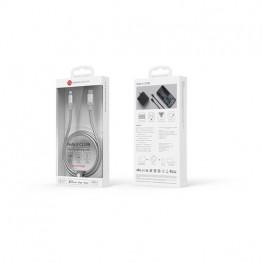 کابل لایتنینگ به USB-C مدل PeAK II 120B نقره ای آدام المنتس