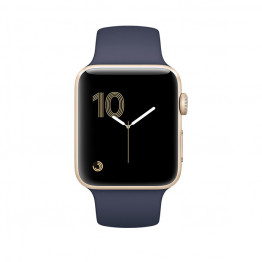 ساعت هوشمند سری 1 سایز 42 میلیمتر طلائی اپل با بند اسپرت سرمهای