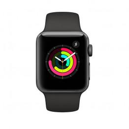 ساعت هوشمند سری 3 سایز 38 میلی متر خاکستری اپل با بند اسپرت خاکستری