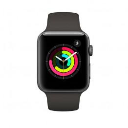 ساعت هوشمند سری 3 سایز 42 میلیمتر طوسی اپل با بند مشکی