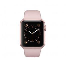ساعت هوشمند سری 1 سایز 38 میلیمتر رنگ رزگلد اپل با بند صورتی