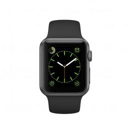 ساعت هوشمند سری 1 سایز 38 میلیمتر خاکستری اپل با بند مشکی