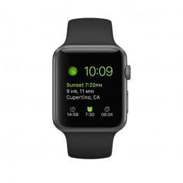 ساعت هوشمند سری 1 سایز 42 میلیمتر خاکستری اپل با بند مشکی