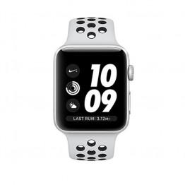 ساعت هوشمند نایک پلاس سری 3 سایز 42 میلیمتر نقرهای اپل با بند طوسی