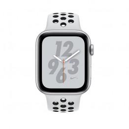 ساعت هوشمند اپل واچ سری 4 سایز 40 میلیمتر رنگ نقرهای با بند طوسی