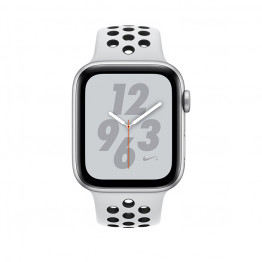 ساعت هوشمند نایک پلاس سری 4 سایز 44 میلیمتر نقرهای اپل با بند طوسی