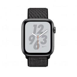 ساعت هوشمند نایک پلاس سری 4 سایز 40 میلیمتر خاکستری اپل با بند مشکی