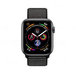 ساعت هوشمند سری 4 سایز 40 میلیمتر خاکستری اپل با بند مشکی