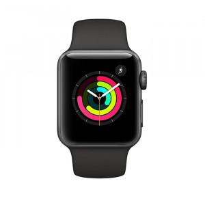 ساعت هوشمند اپل واچ سری 3 سایز 38 میلی متر رنگ خاکستری با بند اسپرت خاکستری