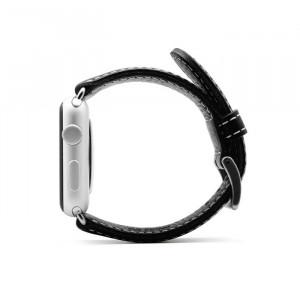 بند چرمی اپل واچ SLG D6 42mm مشکی