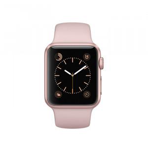 ساعت هوشمند اپل واچ سری 1 سایز 38 میلیمتر رنگ رزگلد با بند صورتی
