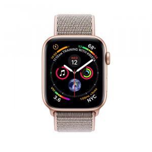 ساعت هوشمند اپل واچ سایز 44 میلیمتر رنگ طلائی با بند صورتی لوپ