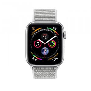 ساعت هوشمند اپل واچ سری 4 سایز 44 میلیمتر رنگ نقرهای با بند لوپ