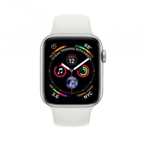ساعت هوشمند اپل واچ سایز 40 میلیمتر نقرهای با بند سفید