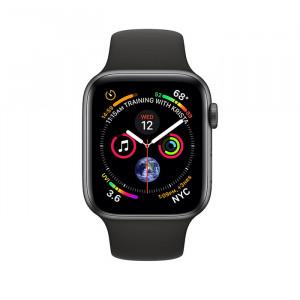 ساعت هوشمند اپل واچ سری 4 سایز 44 میلی متر رنگ طوسی با بند مشکی