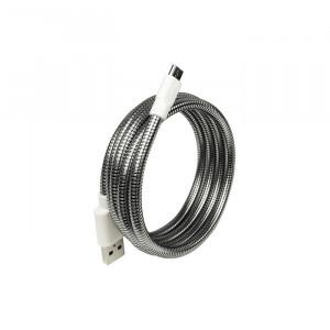 کابل مقاوم USB-C و Lightning فیوزچیکن نقره ای