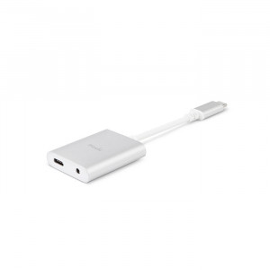 Moshi USB-C Digital Audio Adapter with Charging Silver