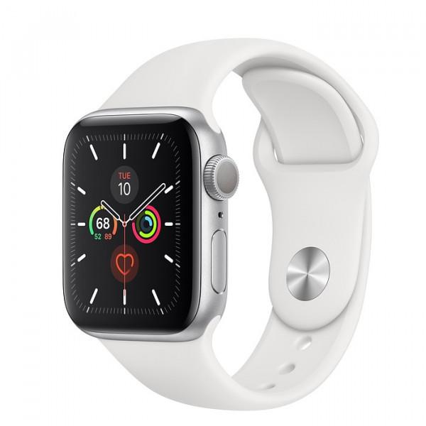 ساعت هوشمند اپل واچ سری 5 سایز 44 رنگ طوسی با بند سفید