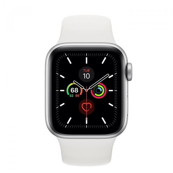 ساعت هوشمند سری 5 سایز 40 طوسی اپل با بند سفید