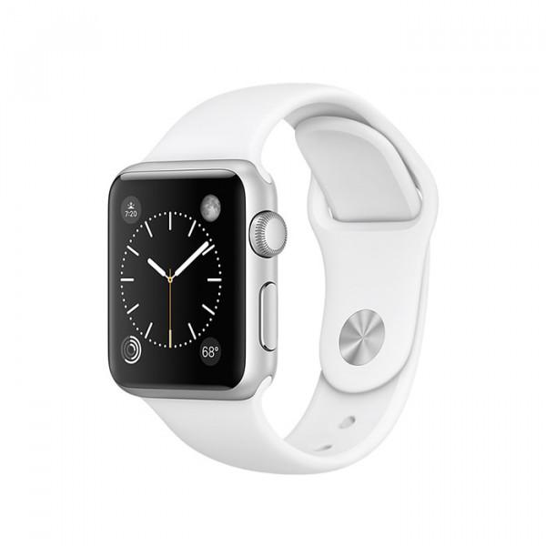 ساعت هوشمند اپل واچ سری 1 سایز 38 میلیمتر رنگ نقرهای با بند سفید