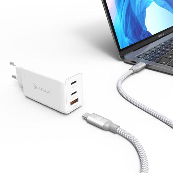 آداپتور مدل Omnia F6 65W به همراه کابل تبدیل USB-C آدام المنتس