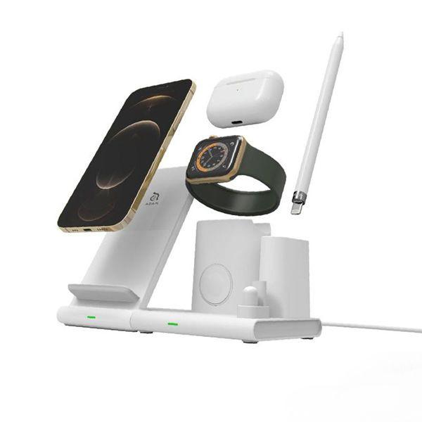 پد شارژر بیسیم مدل Omnia Q4 سفید آدام المنتس
