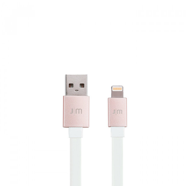 AluCable Flat™ Deluxe Lightning Cable 4-ft/1.2 m rose gold