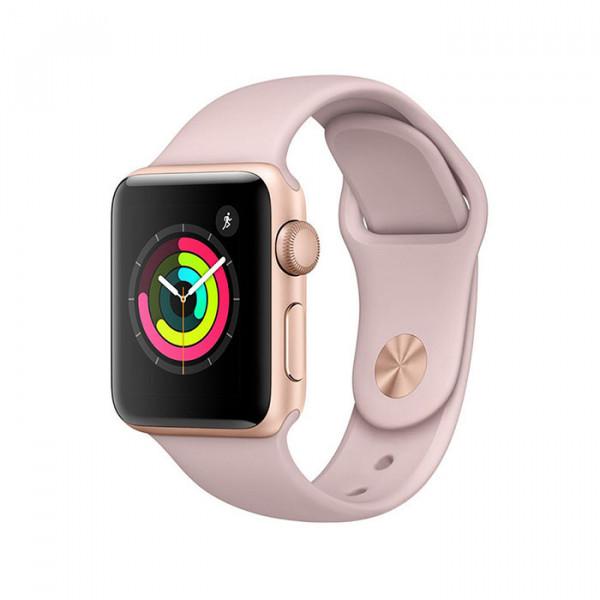 ساعت هوشمند اپل واچ سایز 38 میلی متر رنگ طوسی با بند مشکی